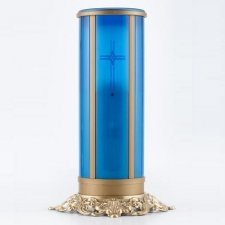 Blue Cross Filigree Memorial Candle