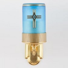 Blue Cross Small Wall Mount Candle