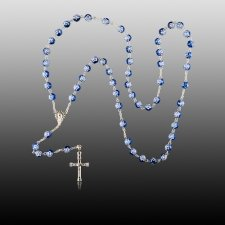 Blue Crystal Cremation Rosaries
