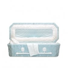 Blue Deluxe Small Child Casket