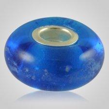 Blue Elegance Cremation Ash Bead