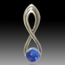 Blue Eternity Cremation Ash Pendant