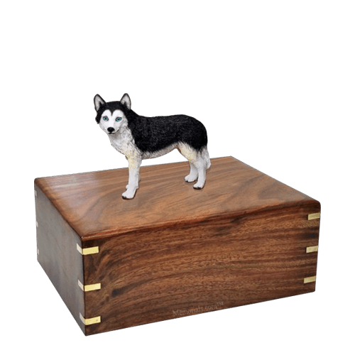 Blue Eyed Husky Medium Doggy Urn