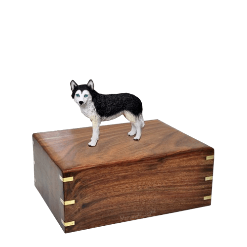 Blue Eyed Husky Small Doggy Urn