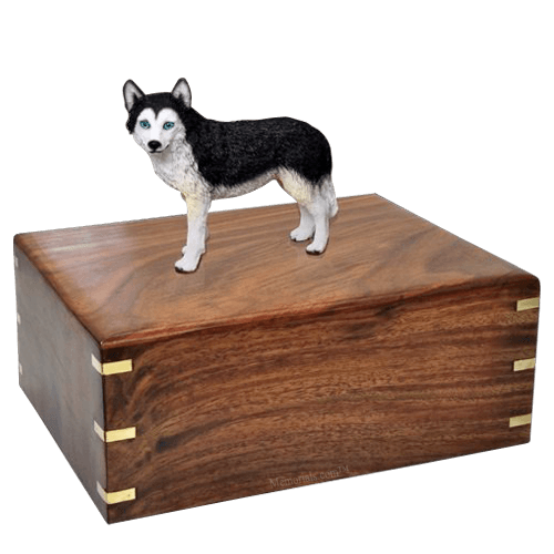 Blue Eyed Husky X-Large Doggy Urn