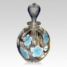 Blue Flower Memory Keepsake Urn