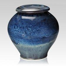 Blue Planet Large Cremation Urn