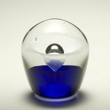 Blue Geyser Glass Cremation Keepsakes