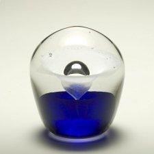 Blue Geyser Glass Cremation Keepsakes
