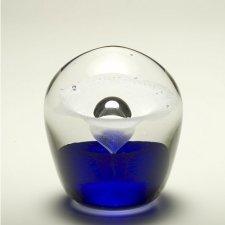 Blue Geyser Glass Cremation Keepsake