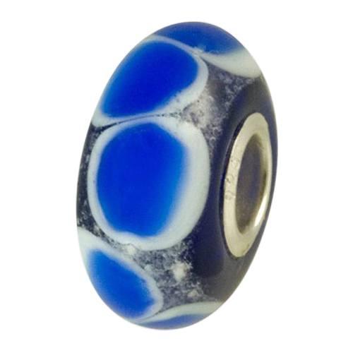 Blue Harmony Cremation Ash Bead