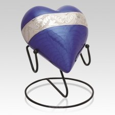 Blue Heart Cremation Urns
