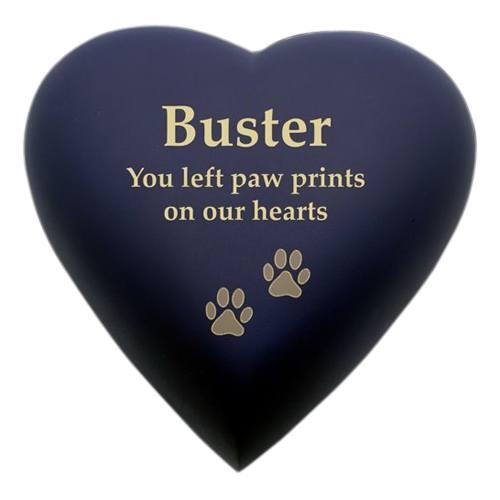 Blue Heart Pet Cremation Urn