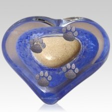 Blue Heart Pet Keepsake Urn