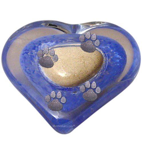 Blue Heart Pet Keepsake Urn