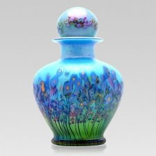 Blue Iris Glass Cremation Urns