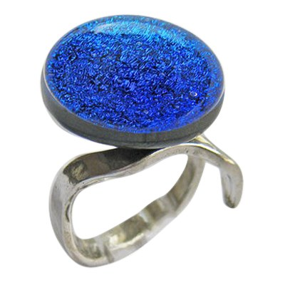 Blue Memorial Ashes Ring