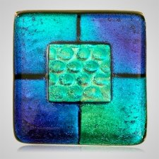 Blue Memorial Cremation Ashes Tile