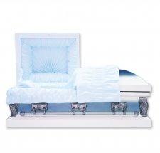 Blue Medium Metal Pet Casket