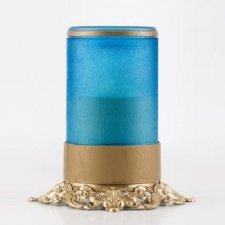 Blue Ornate Memorial Candle