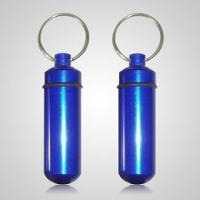 Blue Pet Keepsake Keychains