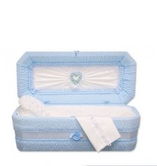 Blue Ray Small Child Casket