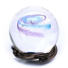 Blue Skies & Purple Galaxy Memory Glass Keepsakes