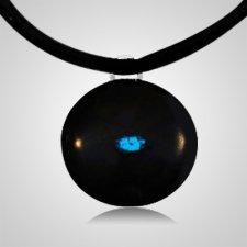 Blue Spot Cremation Ash Pendant