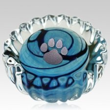 Blue Swirl Pet Keepsake Urn