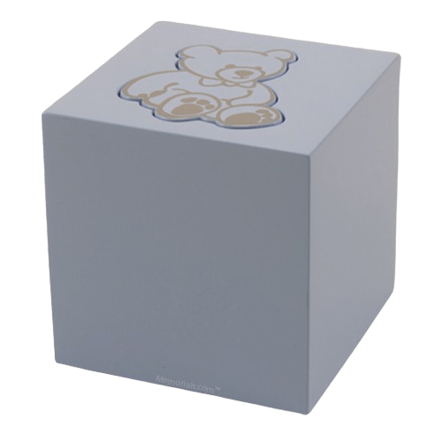 Blue Teddy Bear Child Urn