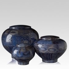 Blue Wood Cremation Urns