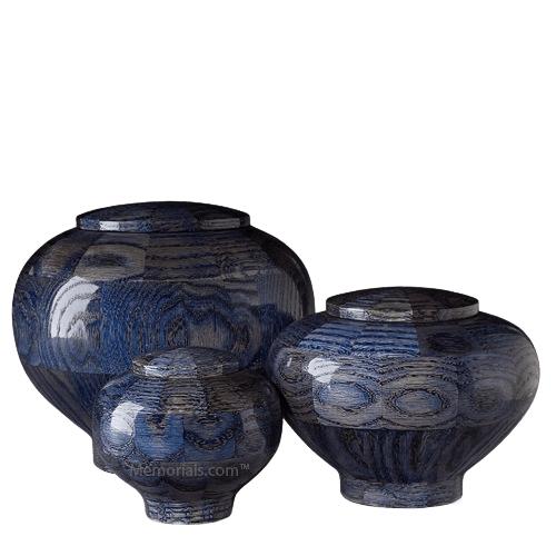 Blue Wood Cremation Urns
