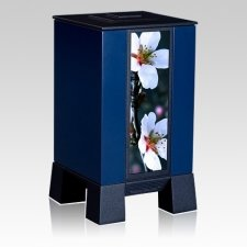Blue & Cherry Cremation Urn