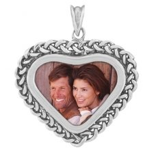 Bond Silver Photo Pendant