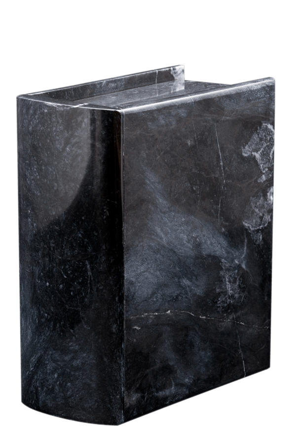 Ebony Marble Book Cremation Urn