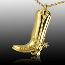 Boot & Spur Cremation Pendant IV