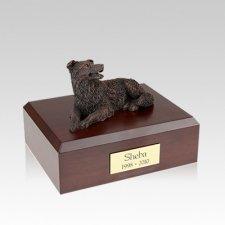 Border Collie Bronze Medium Dog Urn