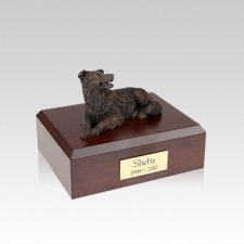 Border Collie Bronze Small Dog Urn