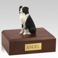 Border Collie Sitting Dog Urns
