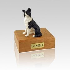 Border Collie Small Dog Urn