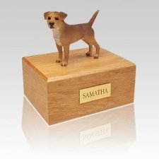 Border Terrier Grizzle Large Dog Urn
