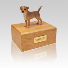 Border Terrier Grizzle Medium Dog Urn