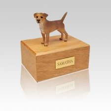 Border Terrier Grizzle Small Dog Urn