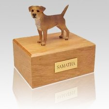 Border Terrier Grizzle X Large Dog Urn