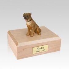 Border Terrier Sitting Medium Dog Urn