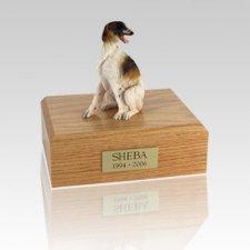 Borzoi Sitting Medium Dog Urn