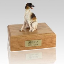 Borzoi Sitting Dog Urns