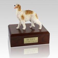 Borzoi Standing Large Dog Urn