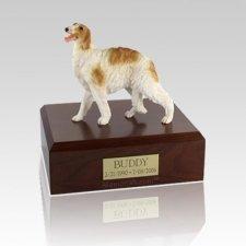Borzoi Standing Medium Dog Urn