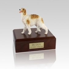 Borzoi Standing Small Dog Urn